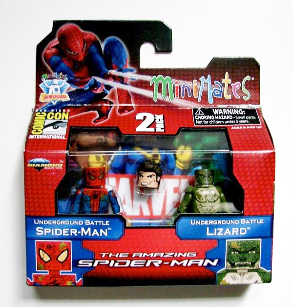 The Amazing Spider-Man SpiderMan & Lizard 2012 SDCC Marvel Minimates Exclusive