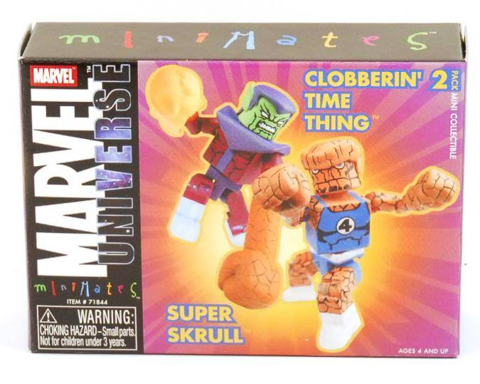 Clobberin' Time Thing & Super Skrull 2004 Tower Exclusive Marvel Minimates