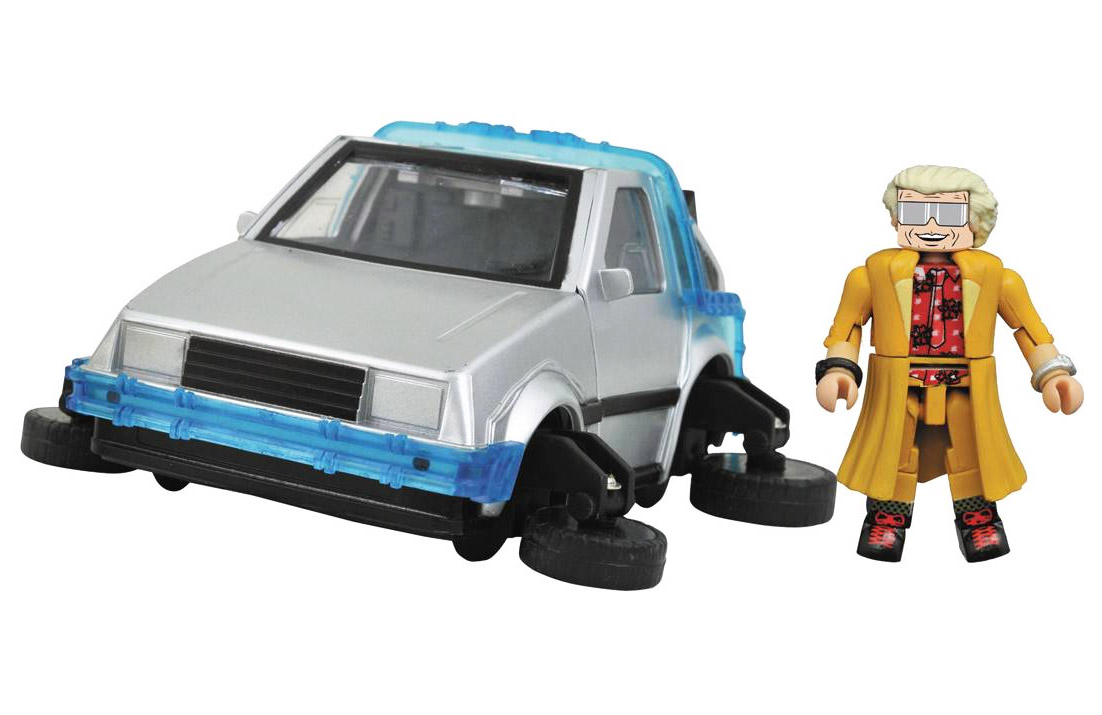 Back to the Future 2 Delorean Time Machine & Minimate