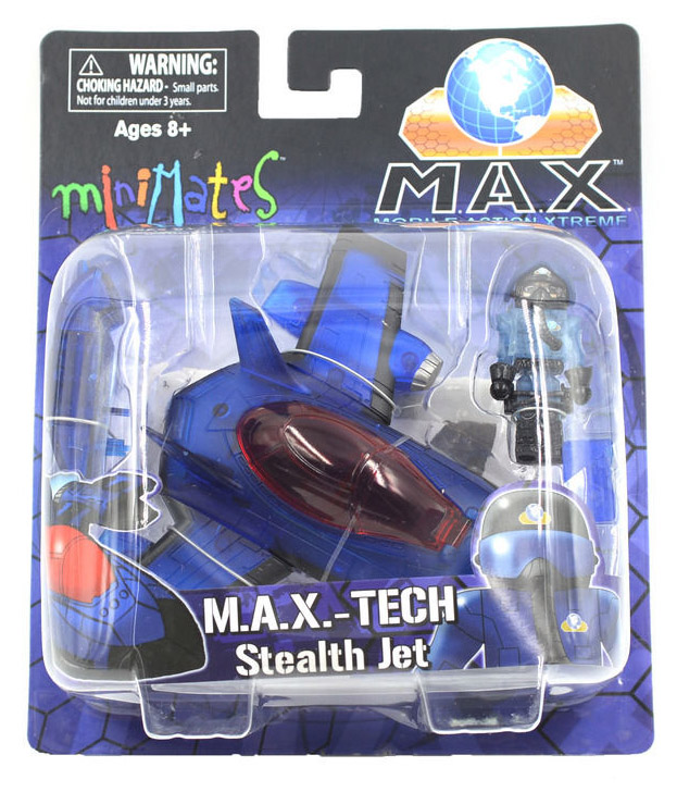Minimates MAX Blue Stealth Jet & Pilot