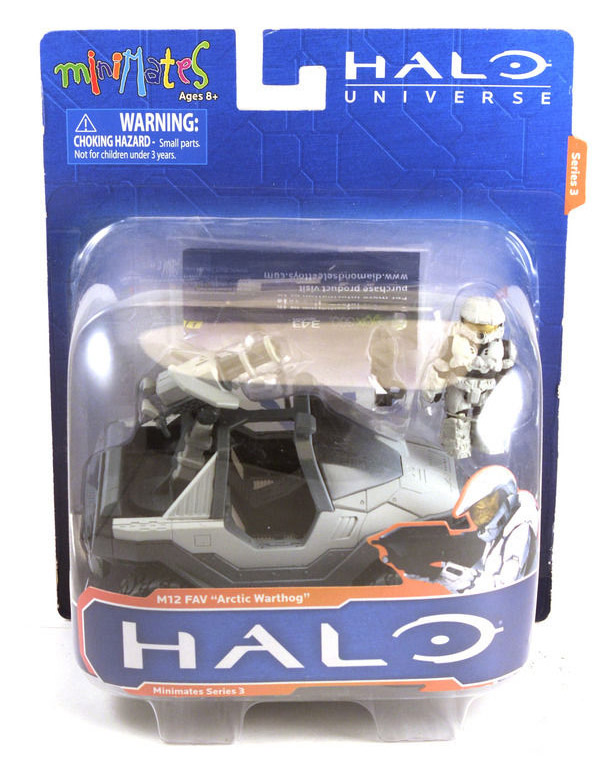Halo Arctic Warthog Vehicle & Exclusive Minimate