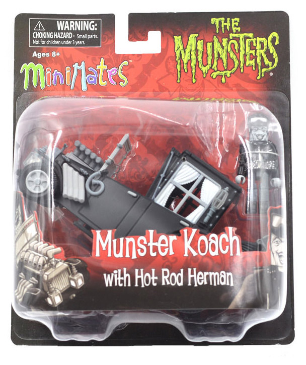 The Munsters Koach & Hot Rod Herman Minimate