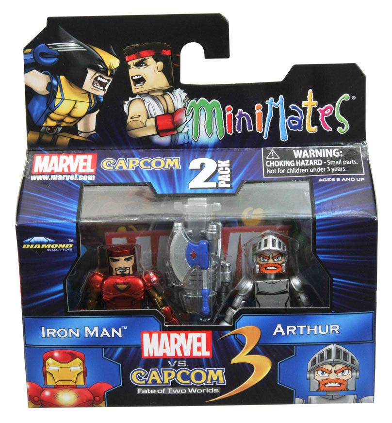 Iron Man vs Arthur Marvel vs Capcom Minimates Series 1
