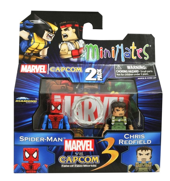 Spider-Man vs Chris Redfield Marvel vs Capcom Minimates Series 2