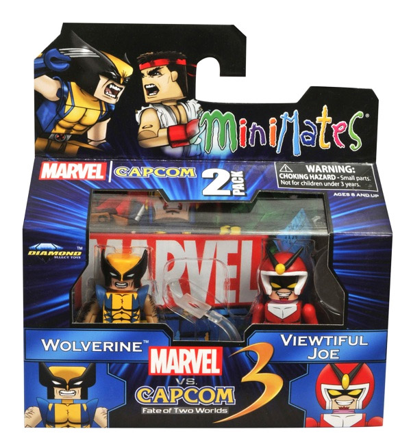 Wolverine vs Viewtiful Joe Marvel vs Capcom Minimates Series 2