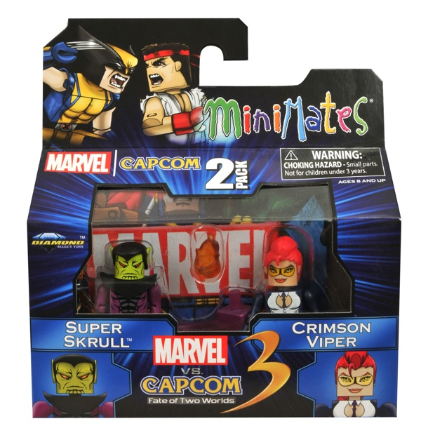 Super Skrull vs Crimson Viper Marvel vs Capcom Minimates Series 2
