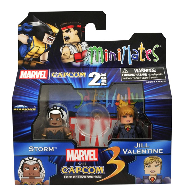 Storm vs Jill Valentine Marvel vs Capcom Minimates Series 2