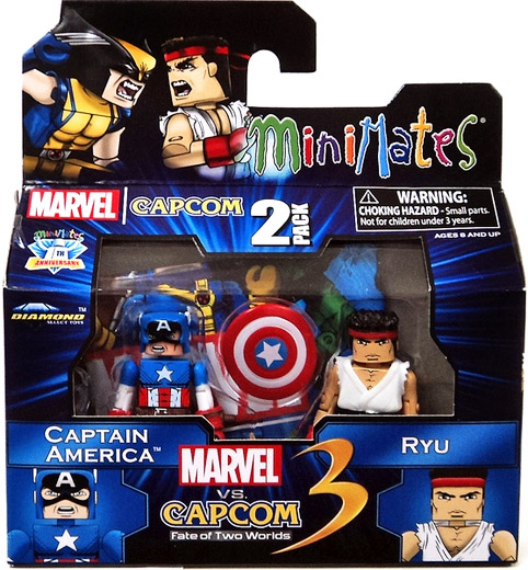 Captain America vs Ryu Marvel vs Capcom Minimates Series 3