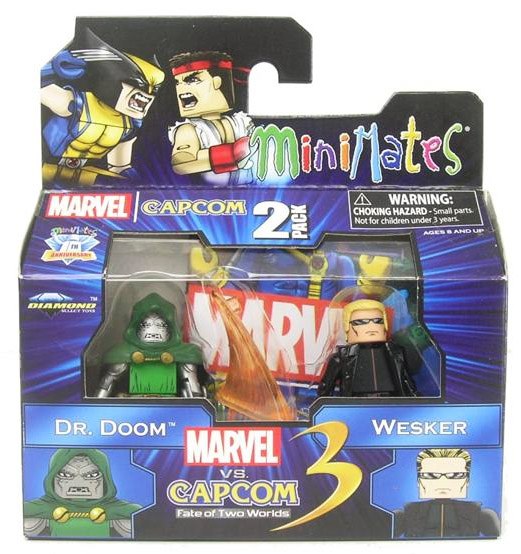 Dr Doom & Wesker Marvel vs Capcom Minimates Series 3