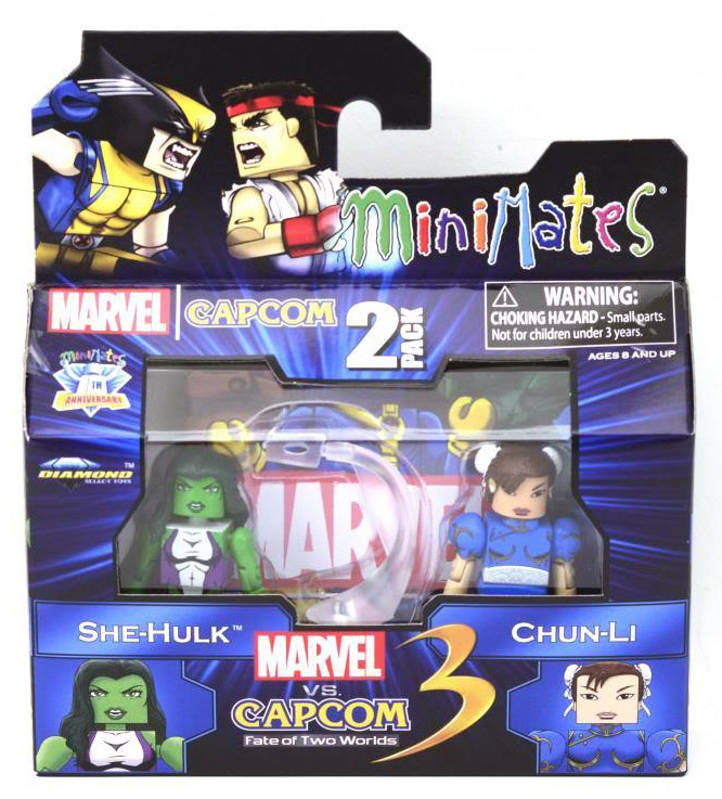 She-Hulk & Chun-Li Marvel vs Capcom Minimates Series 3