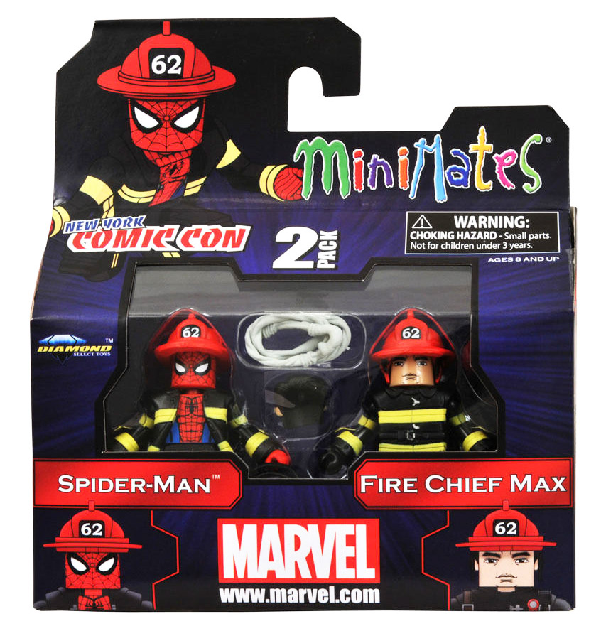 Fire Fighter Spider-Man & Fire Chief 2011 NYCC Exclusive Minimates