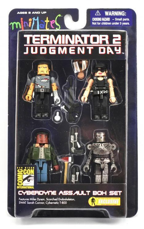Terminator 2 Cyberdyne Assault Minimates Box Set 2010 SDCC Exclusive
