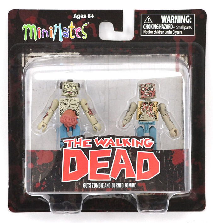 Guts Zombie & Burned Zombie Walking Dead Minimates Series 1