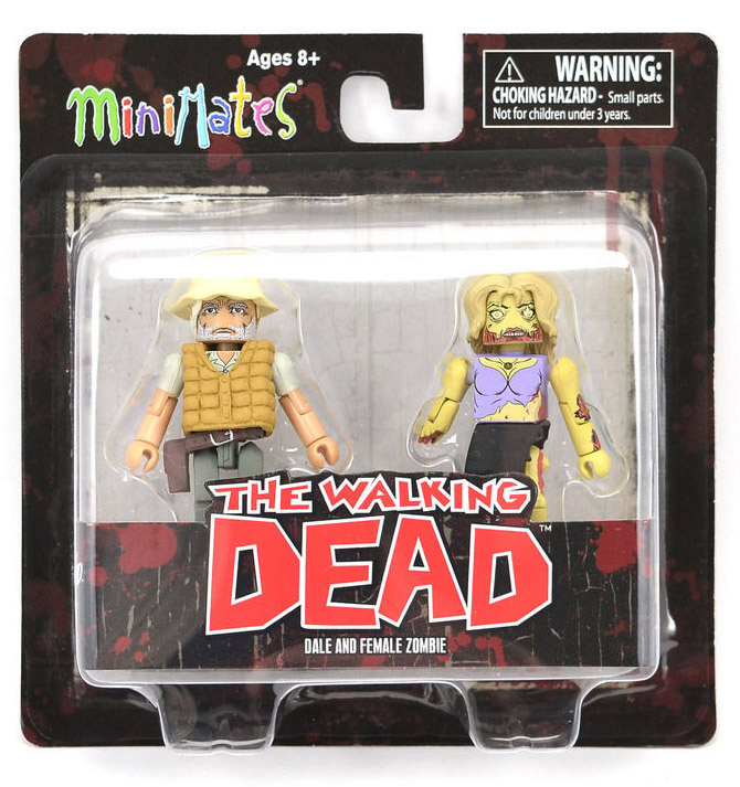 Dale & Female Zombie Walking Dead Minimates Series 1