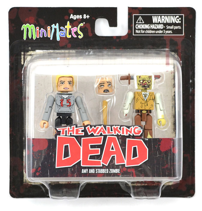 Amy & Stabbed Zombie Walking Dead Minimates Series 2