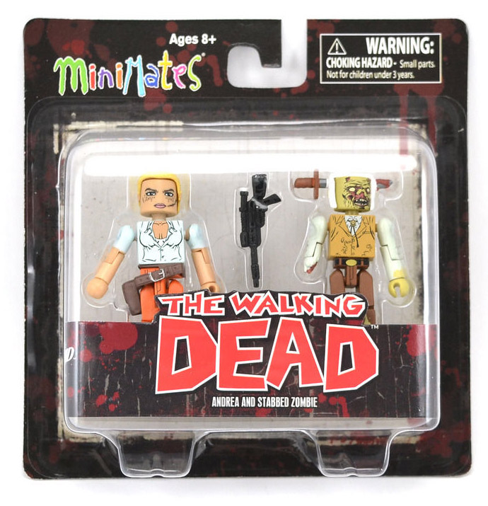Andrea & Stabbed Zombie Walking Dead Minimates Series 2