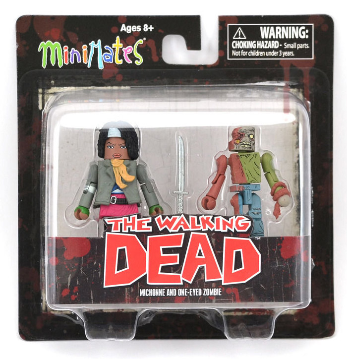 Michonne & One Eyed Zombie Walking Dead Minimates Series 2