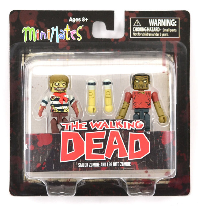 Sailor Zombie & Leg Bite Zombie Walking Dead Minimates Series 2