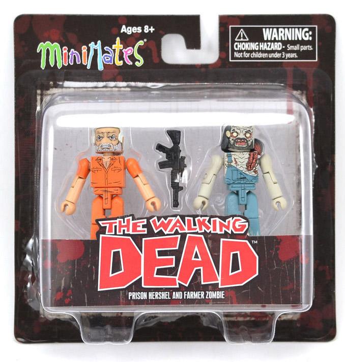 Prison Hershel & Farmer Zombie Walking Dead Minimates Series 3