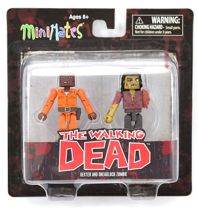 Dexter & Dreadlock Zombie Walking Dead Minimates Series 3
