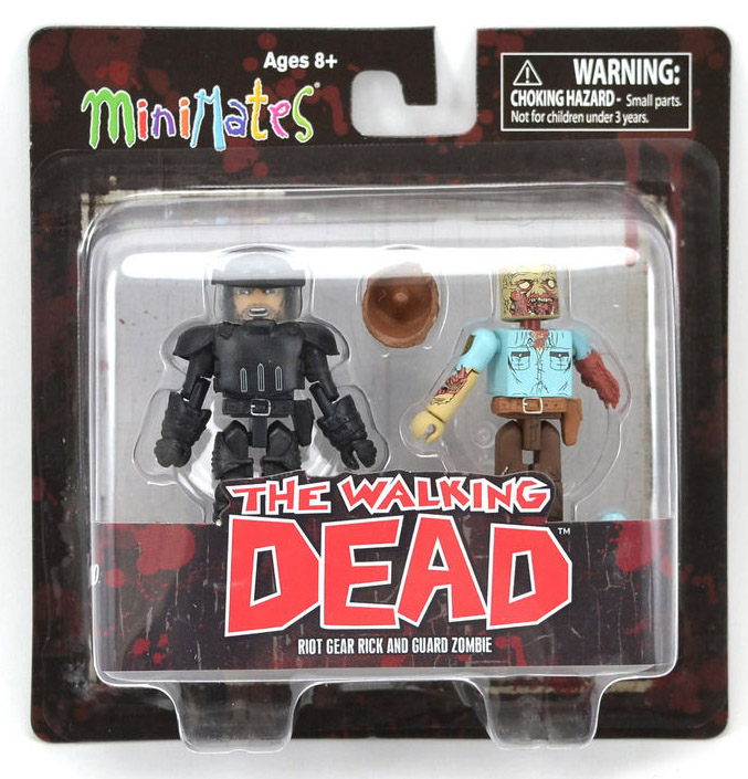 Riot Gear Rick & Guard Zombie Walking Dead Minimates Series 3
