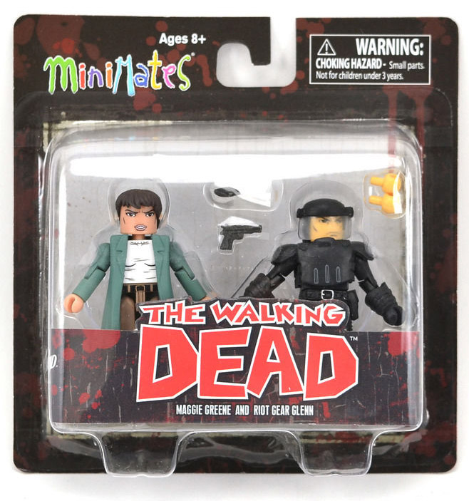 Maggie & Riot Gear Glenn Walking Dead Minimates Series 5