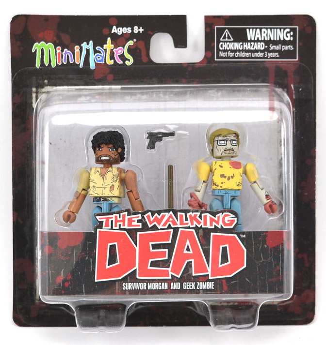 Survivor Morgan & Geek Zombie Walking Dead Minimates Series 5