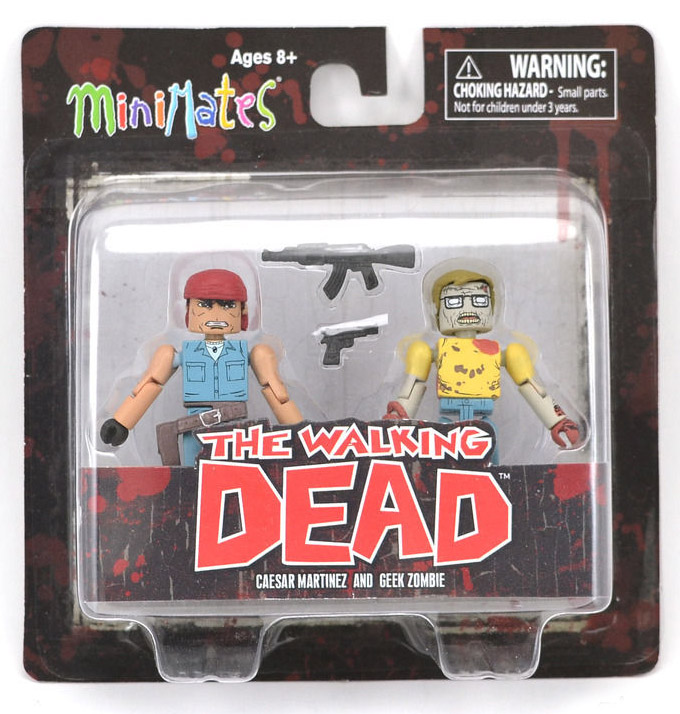 Martinez & Geek Zombie Walking Dead Minimates Series 5