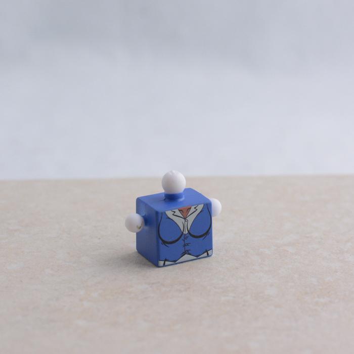 Female Torso Blue Shirt