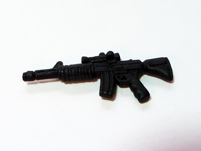 Part: Black assault rifle
