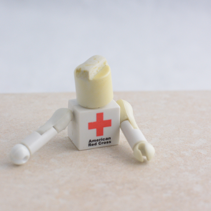 White American Red Cross Torso with Arms, Hands, and Mohawk