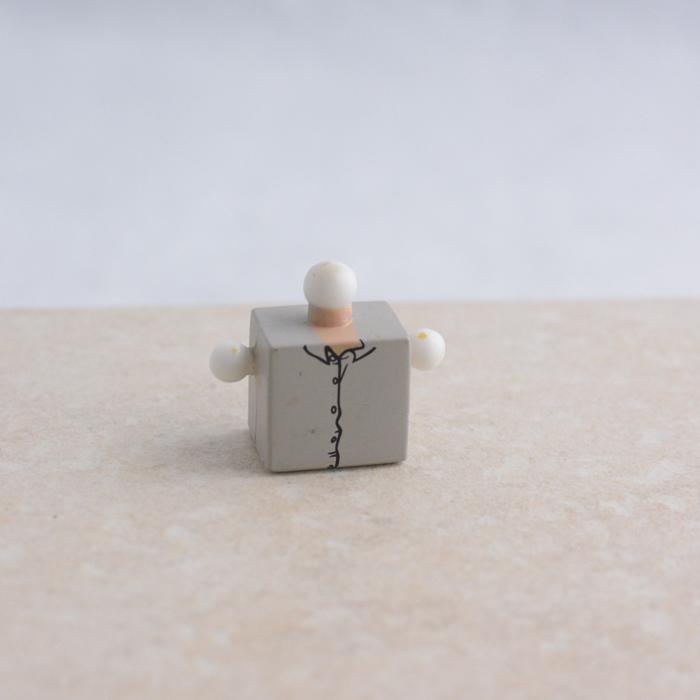 Grey Unkempt Shirt Torso
