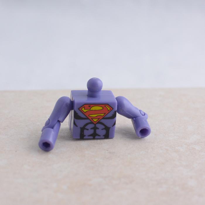 Purple Backwards Superman Torso with Arms