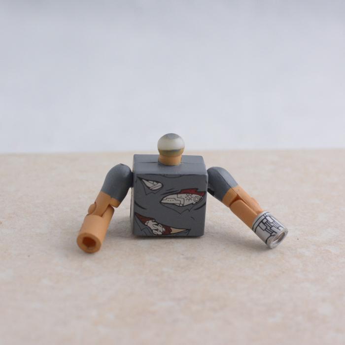 Metal Man Torso with Arms