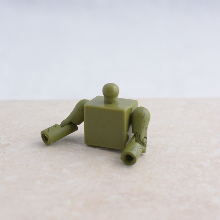 Green Torso with Veiny Arms