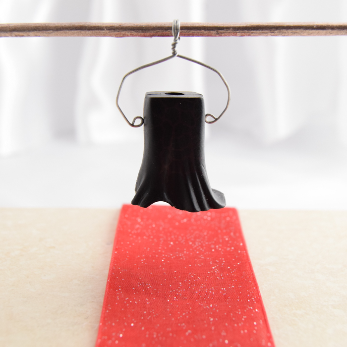 Long Black Skirt with Red Spidery-Ness