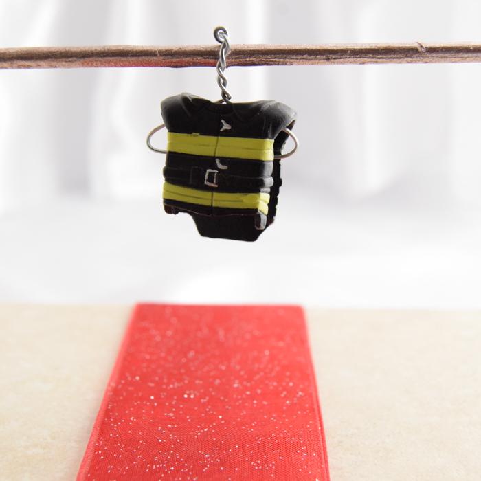 Yellow and Black Fireman Gear