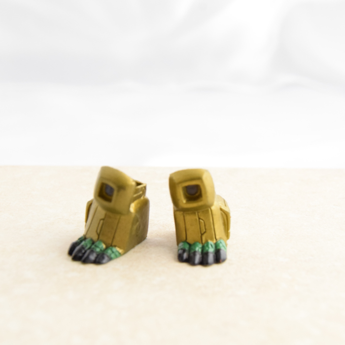 Gold and Green Giant Reptile Feet