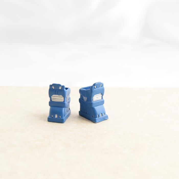 Blue Robot-ey Boots