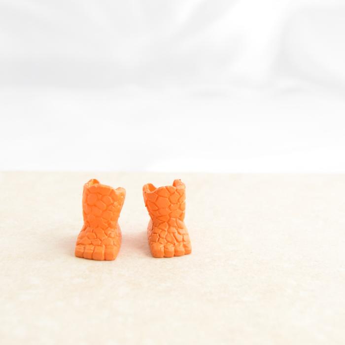 Bright Orange Feet Shoes
