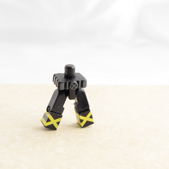 Black legs with Yellow X's and Large Belt