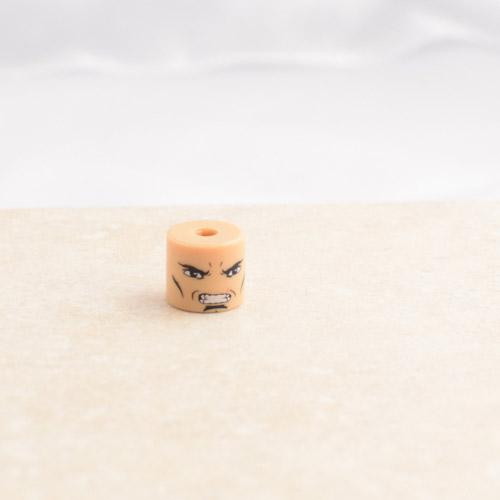 Grumpy Man With Small Scar Head
