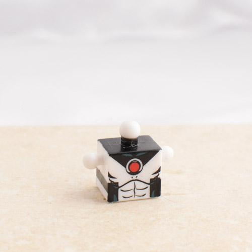 White and Black Torso with Red Circle