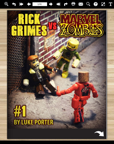 Rick Grimes vs Marvel Zombies Free Comic