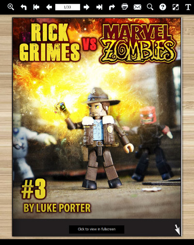 Rick Grimes vs Marvel Zombies Free Comic