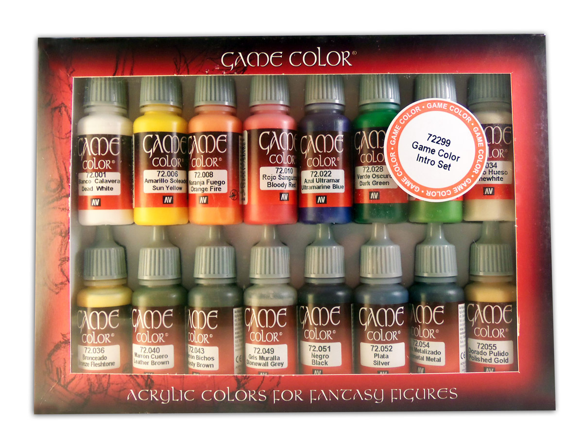 Vallejo Paint Starter Set of 16 Bottles