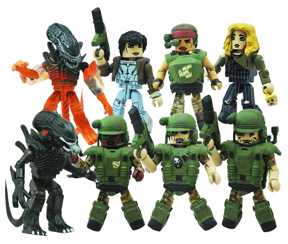 Aliens Minimates Series 2 Full Set of 8