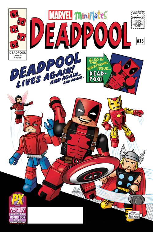 SDCC Exclusive Deadpool #15 Marvel Minimates Cover Variant Comic