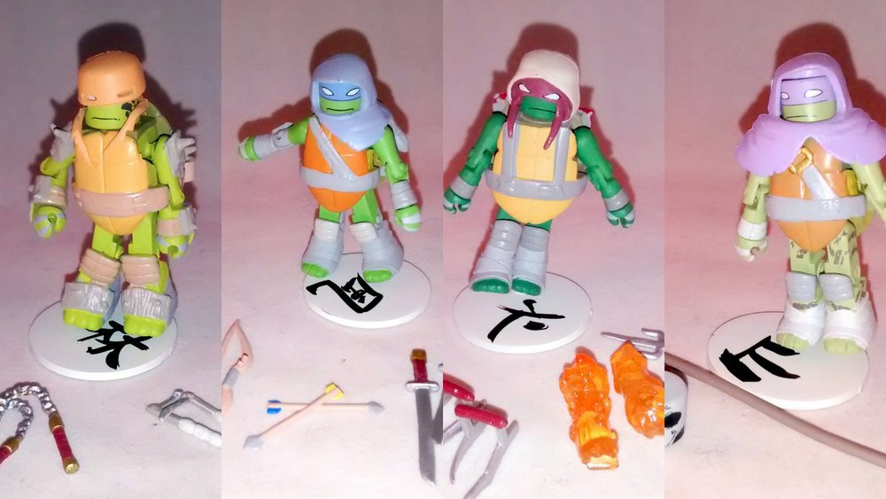 Vision Quest Turtles Set of 4 TMNT Series 3 Minimates