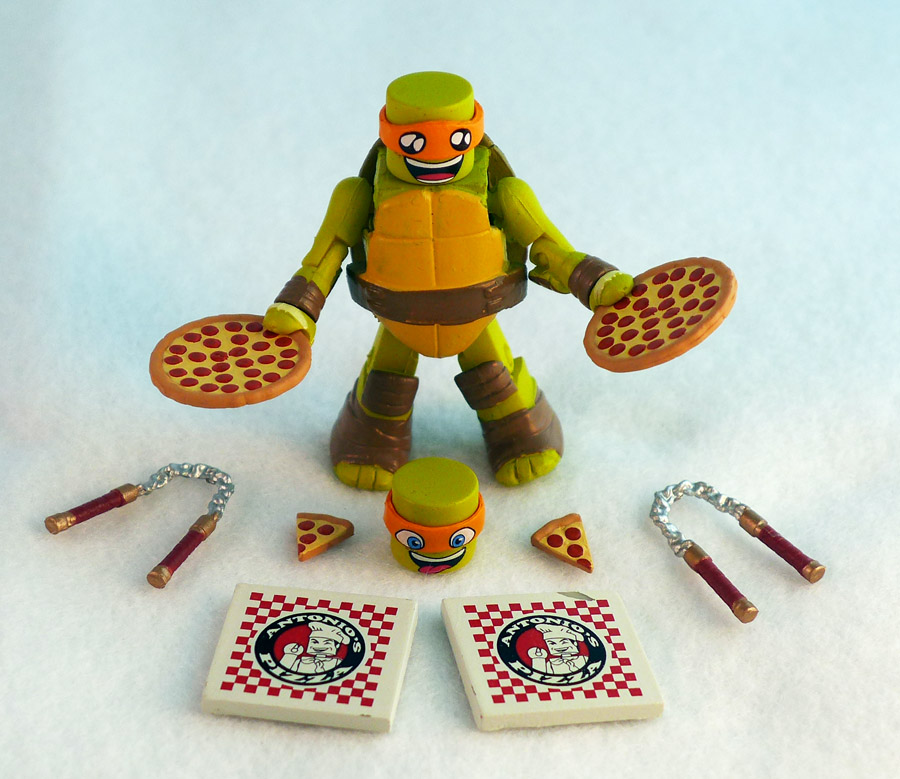 Pizza Party Michelangelo TMNT Series 4 Minimate